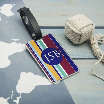 Gentlemen's Multi-Layered Monogrammed Luggage Tag